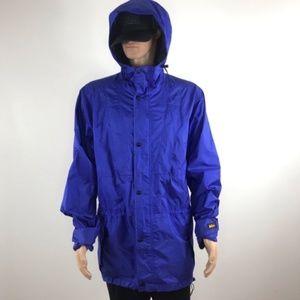 Rei Gore-Tex Blue Men's raincoat jacket size MT